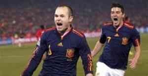 España gana  a Chile y se mete en octavos 3