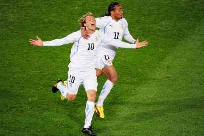 Uruguay golea a Sudáfrica 3