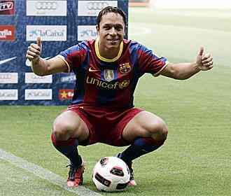 Adriano ya viste la camiseta del Barcelona
