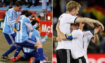 argentina alemania cuartos mundial sudafrica