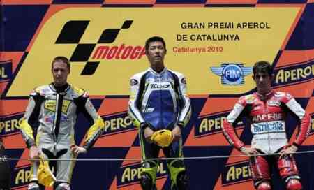 podium moto 2 premio catalunya