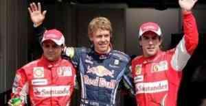 Vettel le gana la partida a los dos Ferrari 3