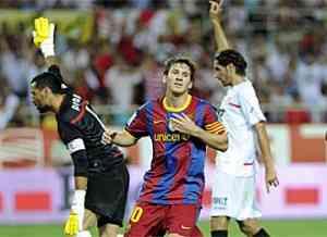 El Sevilla gana la ida de la Supercopa de España 3