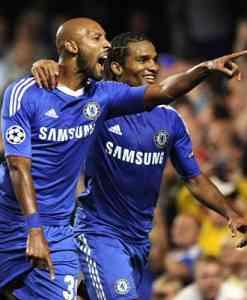 Chelsea celebra uno de los goles ante el Marsella