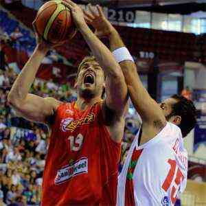 España derrota a Libano