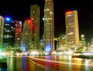 circuito singapur de noche