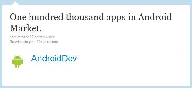 La Android Market pasa las 100 mil aplicaciones disponibles 3