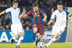 Messi quiere seguir su racha en Champions 3