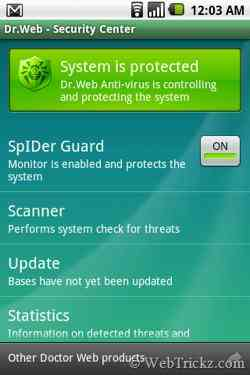 Dr. Web For Android Light, un potente anti-virus para Android 3