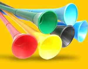 vuvuzelas para animar las competiciones europeas