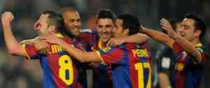 El nuevo Málaga no aguantó en el Camp Nou 5