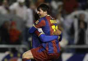 El Barcelona golea en Riazor
