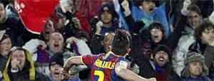 Villa marcó y el Barcelona ganó 3