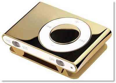 IPod cubierto de oro 3