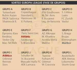 sorteo grupo europa league