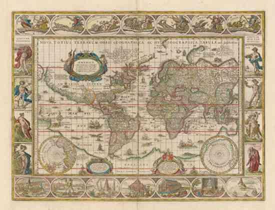 El mundo visto por Willem Blaeu en subasta 5