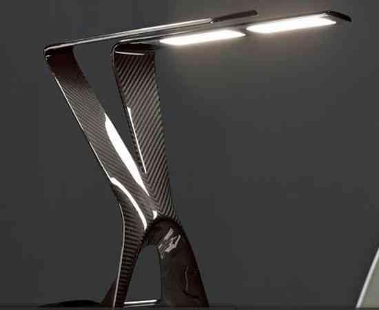 Lámpara de mesa de fibra de carbono OLED, una obra maestra moderna 5