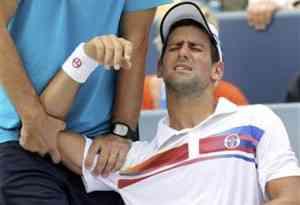 La lesión de Novak Djokovic 3