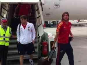 España llega a Suiza para enfrentarse a Chile 3