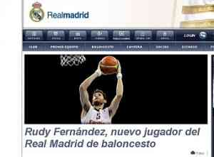 Rudy Fernández jugará en el Real Madrid 3