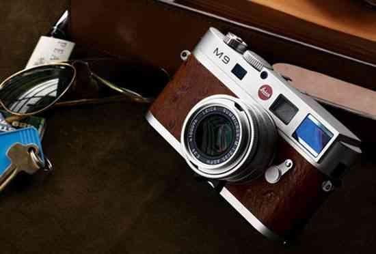 Camara de fotos Leica M9-P de cuero rojo de edición especial 8