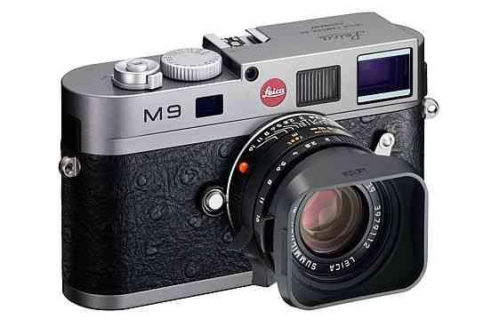 Camara de fotos Leica M9-P de cuero rojo de edición especial 9