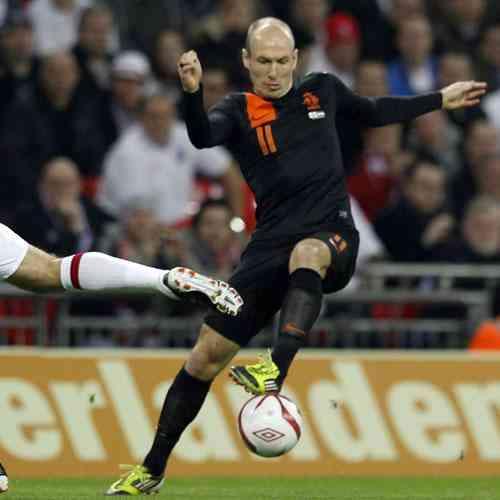 Robben da victoria Holanda Inglaterra