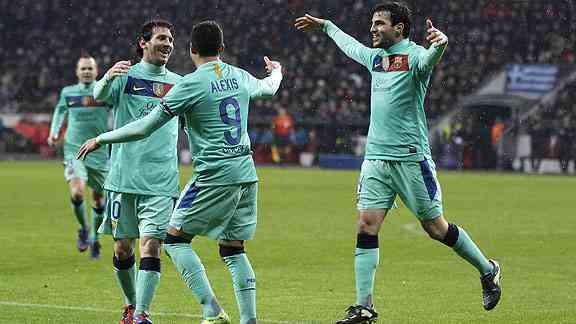 barcelona juega su partido de vuelta de los octavos de la champions league
