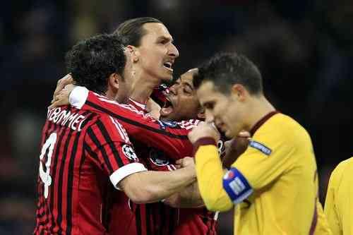 milan y arsenal se enfrentan por un puesto en los cuartos de final de la champions league