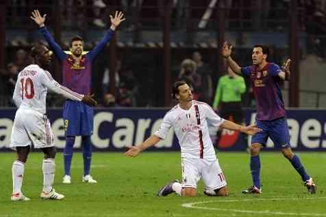barcelona vs milan por un puesto en la semifinal