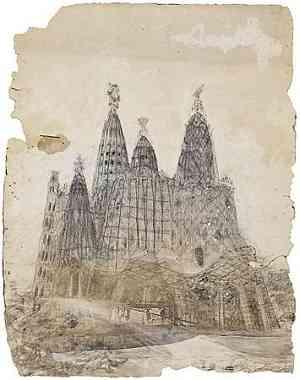Subasta de los dibujos de la Colona Güell realizados por Gaudí