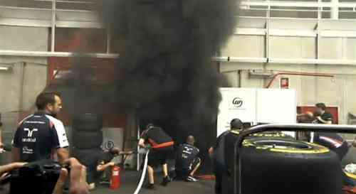 El box de Williams GP sale ardiendo 3