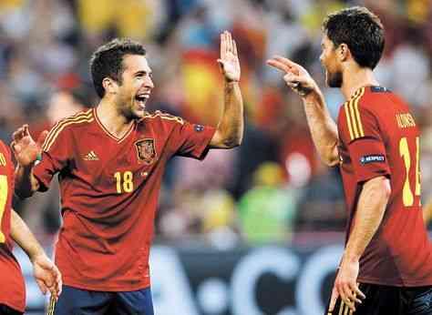 España – Portugal e Italia – Alemania, semifinales de la Euro 3