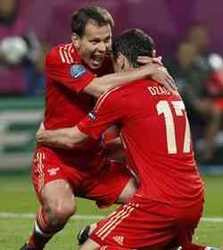 Rusia lider del grupo A Eurocopa 2012