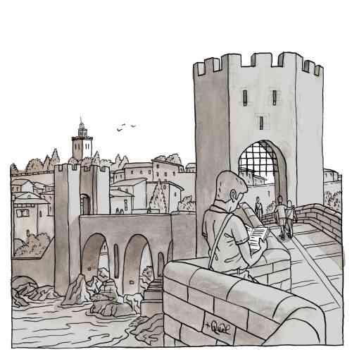 Feria del libro  de Besalú Girona
