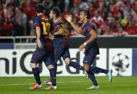 El Barcelona derrota al Benfica pero se queda sin Puyol