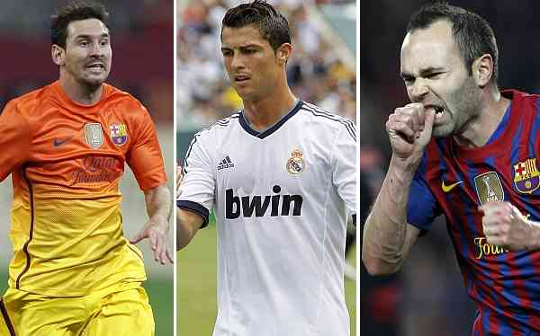 Messi, Cristiano e Iniesta, finalistas del Balón de Oro 3