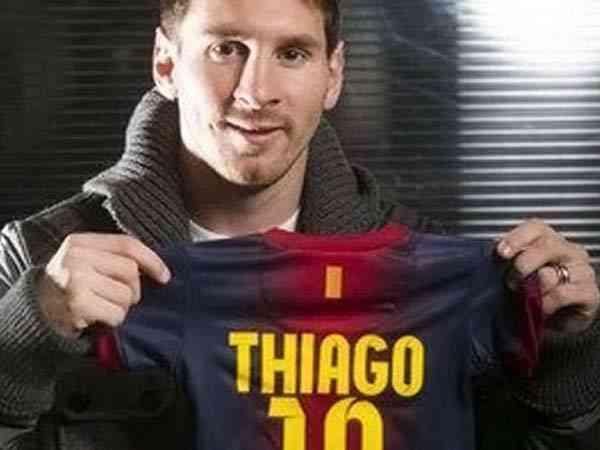 Lionel Messi ya es papá de Thiago 3