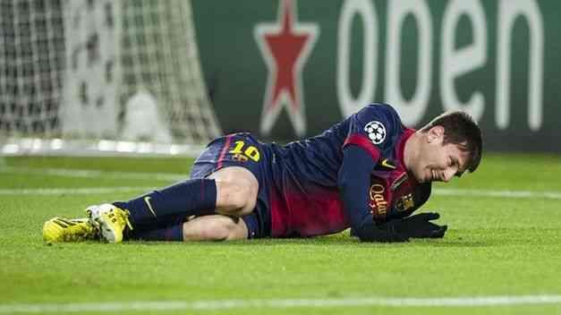 Le lesión de Messi se queda en un golpe 3