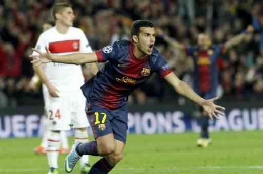 pedro celebra el gol antes el PSG