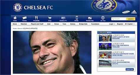 José Mourinho ya es entrenador del Chelsea
