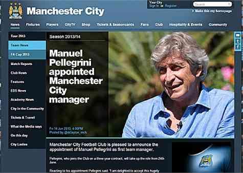 El Manchester City anuncia a Pellegrini