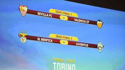 Semifinales de Champions League y Europa League