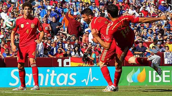 Primer gol de Villa