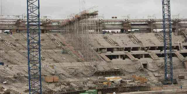 Uno de los estadios en remodelación