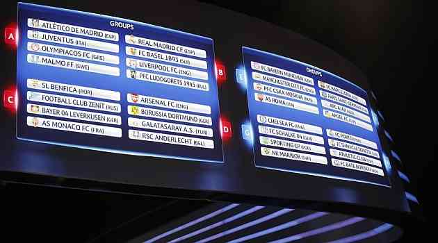 grupos champions league 2014