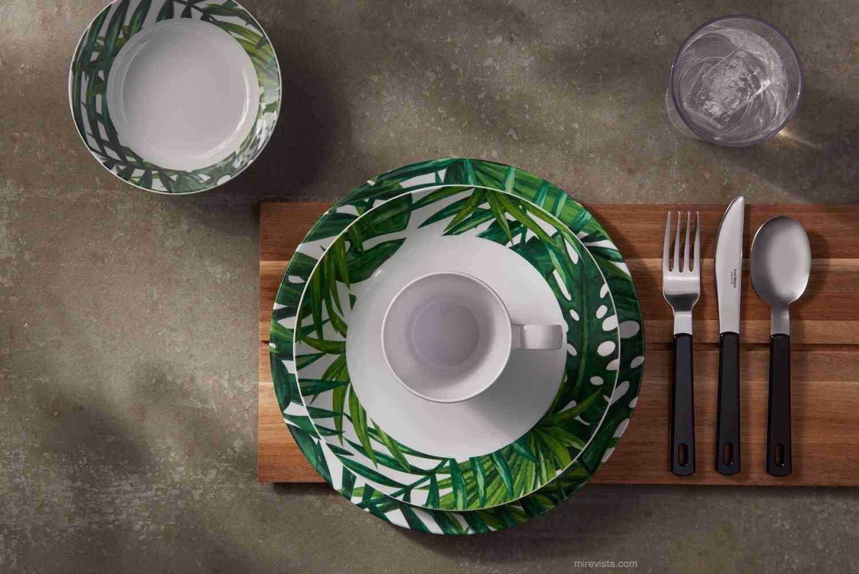 Vajilla Flow Botanic. ¡Energía tropical en la mesa! 6