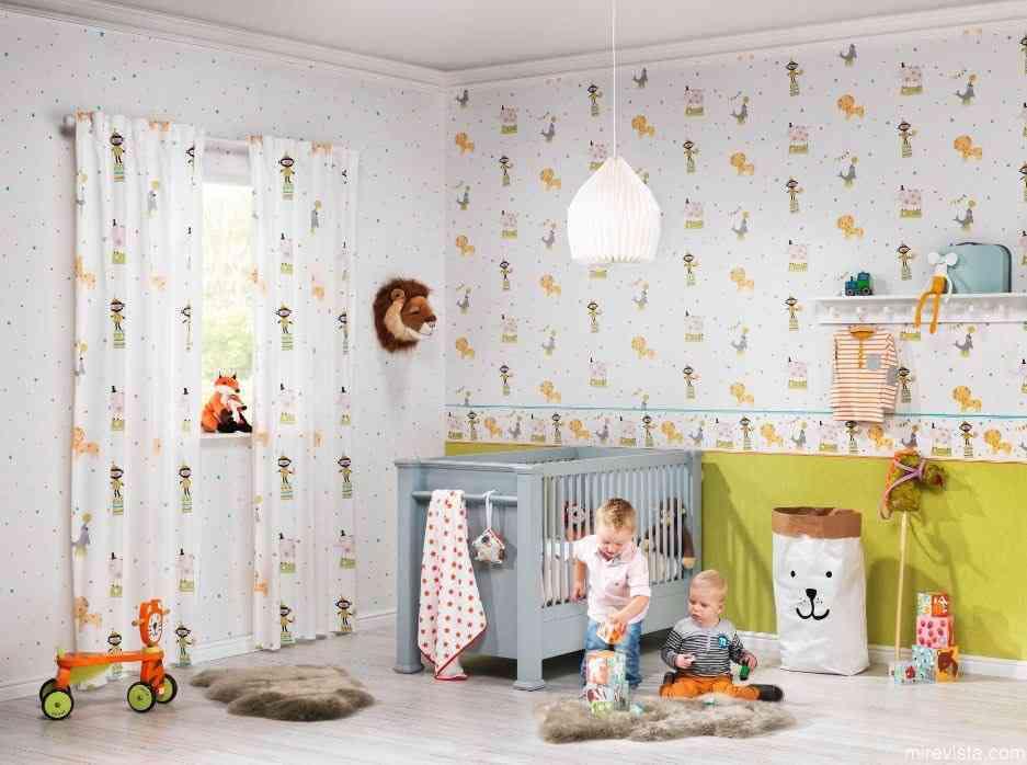 Decora la primera habitación de tu bebé con papel pintado 17