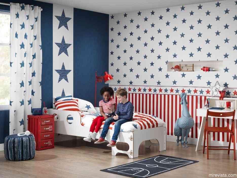 Decora la primera habitación de tu bebé con papel pintado 20