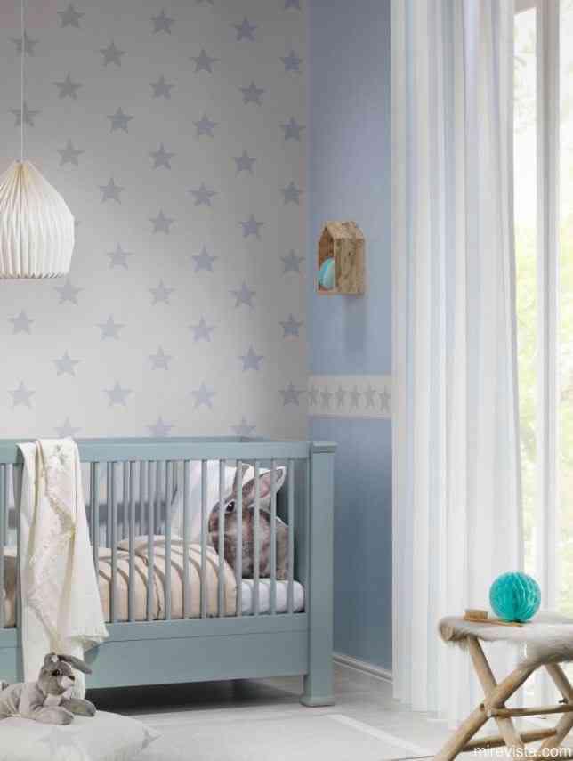 Decora la primera habitaci n de tu beb con papel pintado mi revista - Papel pintado habitacion bebe ...